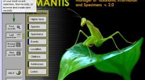 Mantis, un logiciel de gestion de collections d'insectes, très complet et gratuit
