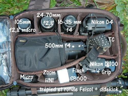 Sac  Tragopan V3 - Compartiment principal et matériel